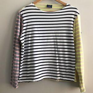 Saint James for J Crew Colorblock Stripe Shirt L